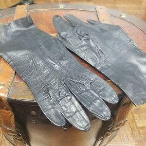 Vintage 1940's calf leather gloves